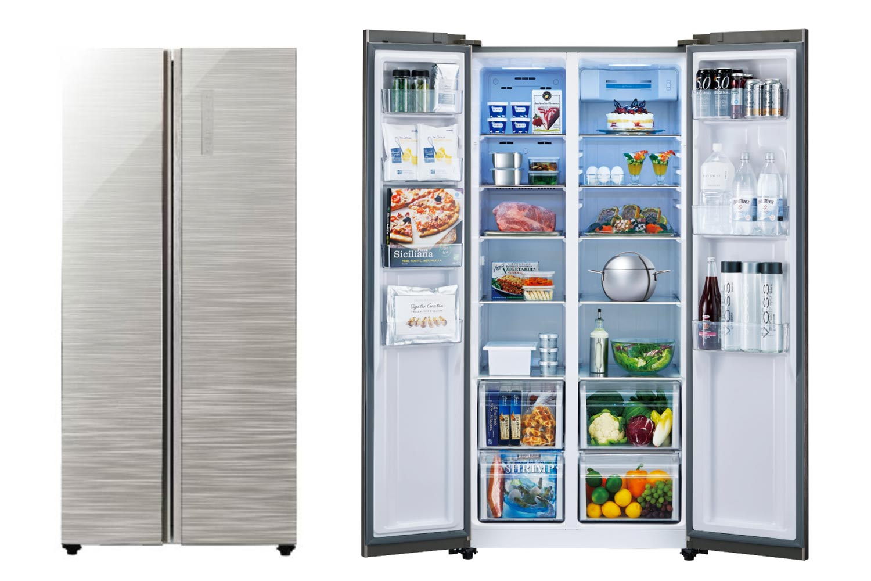 AQUA 2ドアサイドバイサイド冷凍冷蔵庫 449L AQR-SBS45F