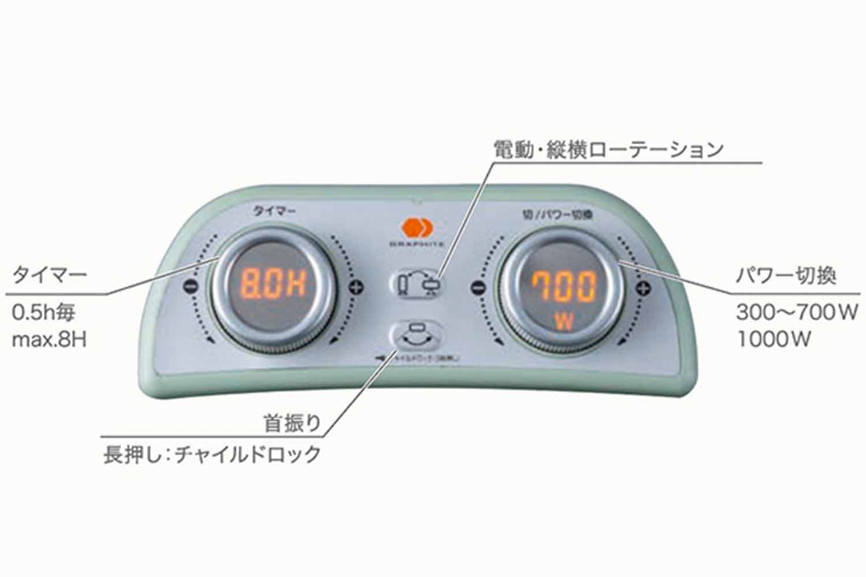 Aladdin 遠赤グラファイトヒーター CAH-2G10A(G) / AEH-2G10N(W)